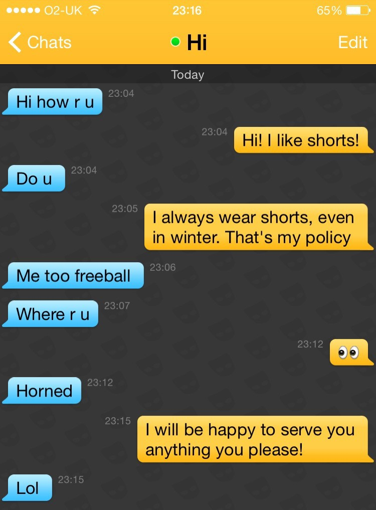 I joined Grindr and only used trainer quotes from Pokémon