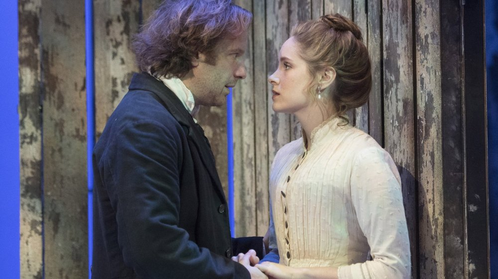 Wild Honey performed at Hampstead Theatre Geoffrey Streatfeild as Platonov, Sophie Rundle as Sofya ©Alastair Muir 08.12.16